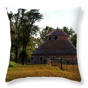 Old Round Barn Throw Pillow