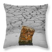 Old Rusted Barrel Abstract Throw Pillow