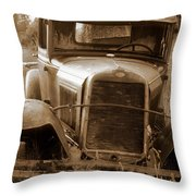 Old Rustic Ford-sepia Throw Pillow
