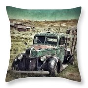 Old Rusty Truck Throw Pillow