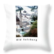 Old Salzburg Poster Throw Pillow