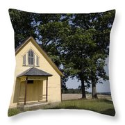 Old School House 1 Of 2 Throw Pillow