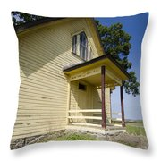 Old School House 2 Of 2 Throw Pillow