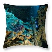 Old Ship Anchor, Australia Throw Pillow