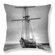 Old Ship Throw Pillow