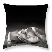Old Shoes Throw Pillow