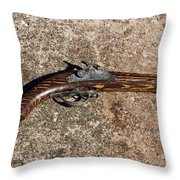 Old Shooting Iron Throw Pillow