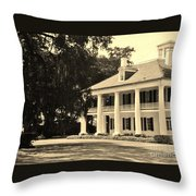 Old Southern Plantation Throw Pillow