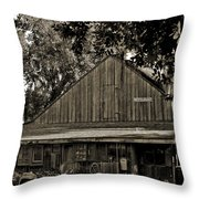 Old Spanish Sugar Mill Old Photo Throw Pillow