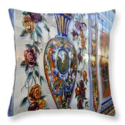 Old Spanish Tiles Throw Pillow