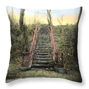 Old Stairs Throw Pillow