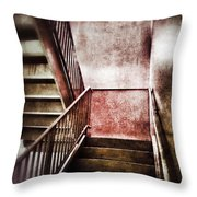 Old Stairwell Throw Pillow