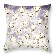 Old Stars Throw Pillow