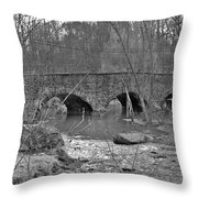 Old Stone Bridge Over The Unami Creek - Sumneytown Pa Throw Pillow