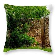 Old Stone Silo Throw Pillow