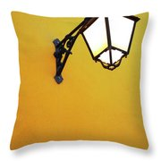 Old Street Lamp Throw Pillow by Carlos Caetano