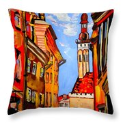 Old Tallinn Throw Pillow