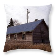 Old Time Barn From Days Gone By Throw Pillow