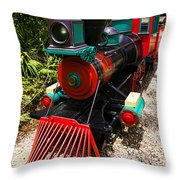 Old Time Train Throw Pillow