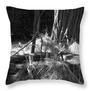 Old Tire Throw Pillow
