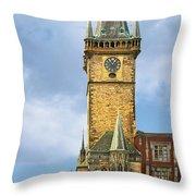 Old Town Hall Prague Cz Throw Pillow