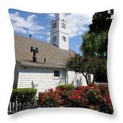 Old Town Mystic Church Throw Pillow
