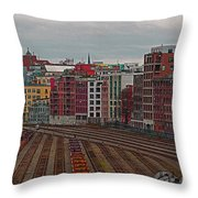 Old Town Vancouver Throw Pillow