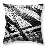 Old Tracks Made New Throw Pillow