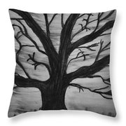 Old Tree With No Leaves Throw Pillow