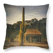 Old Tucson Home Throw Pillow