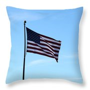 Old Usa Flag Throw Pillow