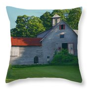 Old Vermont Barn Throw Pillow