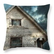 Old Victorian House Detail Throw Pillow