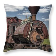 Old Vintage 1880's Railroad Train No.0394 Throw Pillow