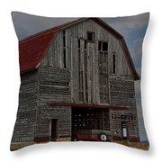 Old Wagon Older Barn Throw Pillow