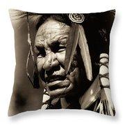 Old Warrior Throw Pillow