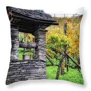 Old Water Well Throw Pillow