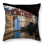 Old Water Wheel Throw Pillow