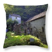 Old Watermill Throw Pillow
