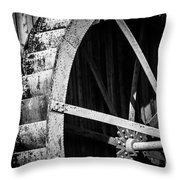 Old West Water Mill 2 Throw Pillow by Darcy Michaelchuk