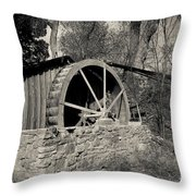 Old West Water Mill 3 Throw Pillow by Darcy Michaelchuk