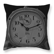 Old Westclock In Black And White Throw Pillow