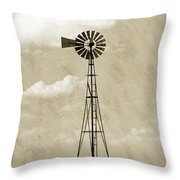 Old Windmill I Throw Pillow