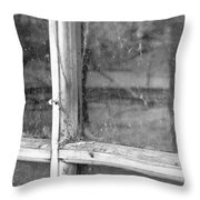Old Window Reflection Throw Pillow