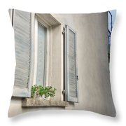 Old Window With Shutter Throw Pillow
