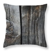 Old Wood On A Barn Iron Hill, Quebec Throw Pillow
