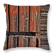 Old Wooden Wall Throw Pillow