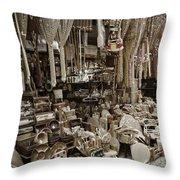 Old World Market Throw Pillow