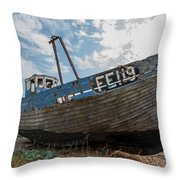 Old Wrecked Fishing Boat Throw Pillow