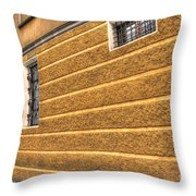 Old Yellow Building Throw Pillow